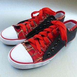 Unisex Plaid Converse Shoes Men 6.5 Women 7.5
